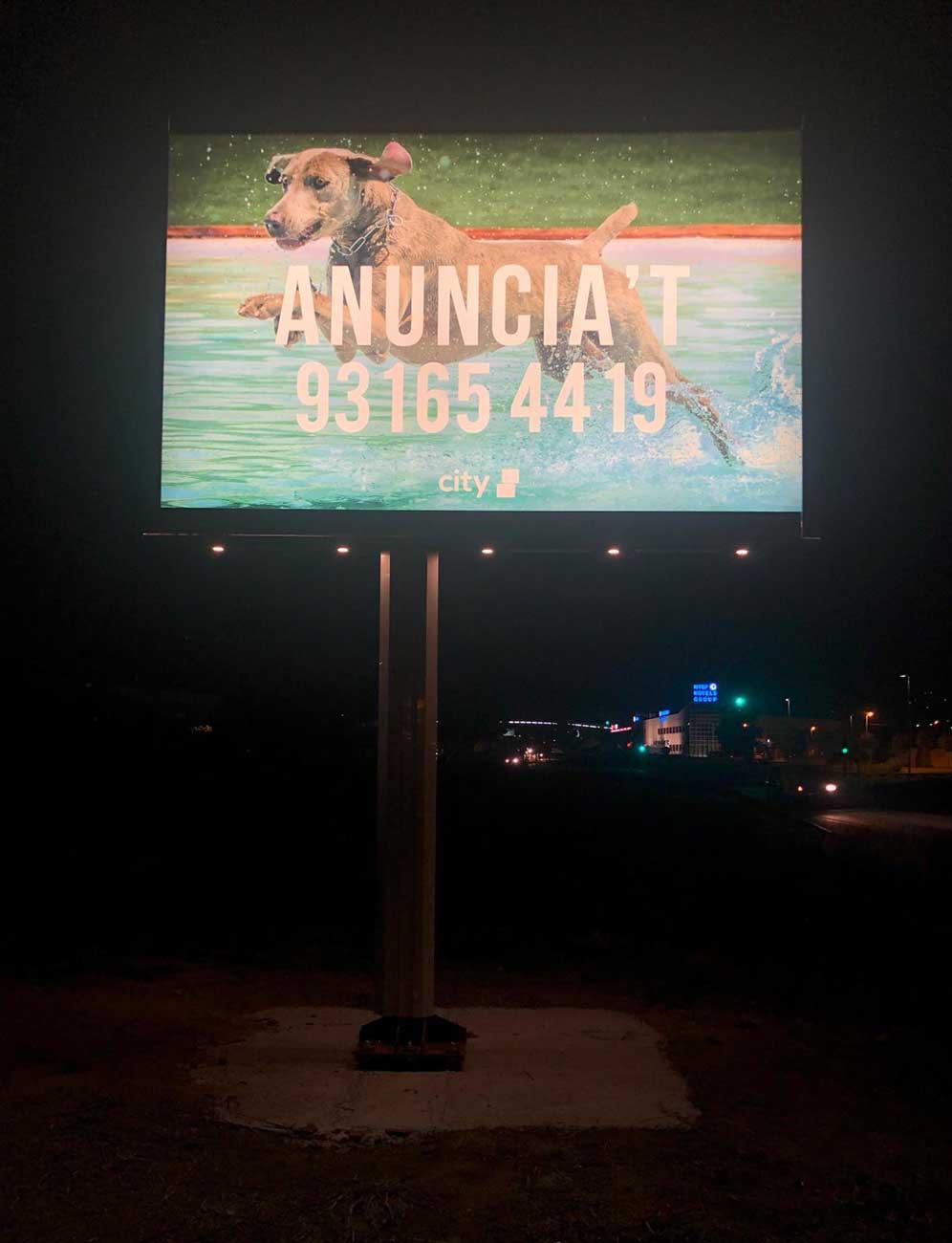 pantalla led mono poste de 9m2 doble 4
